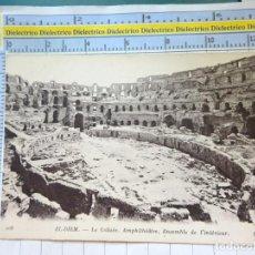 Postales: POSTAL DE TÚNEZ TUNISIE TUNIS. AÑOS 10 30. ANFITEATRO COLISEO DE EL DJEM. 74. Lote 213484618