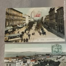 Postales: 2 POSTALES DE TÚNEZ, TUNIS DE 1907 1911.. Lote 214229642