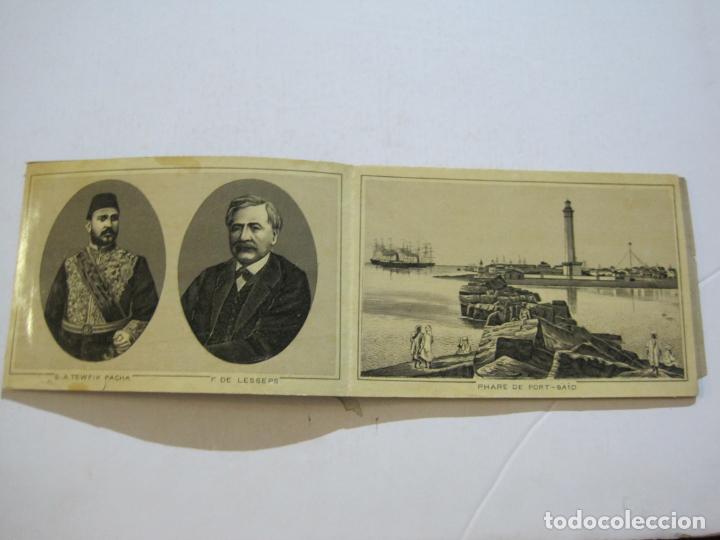 Postales: EGIPTO-ALBUM DE SUEZ-BLOC CON 12 DIBUJOS TAMAÑO POSTAL-VER FOTOS-(74.786) - Foto 4 - 221289007