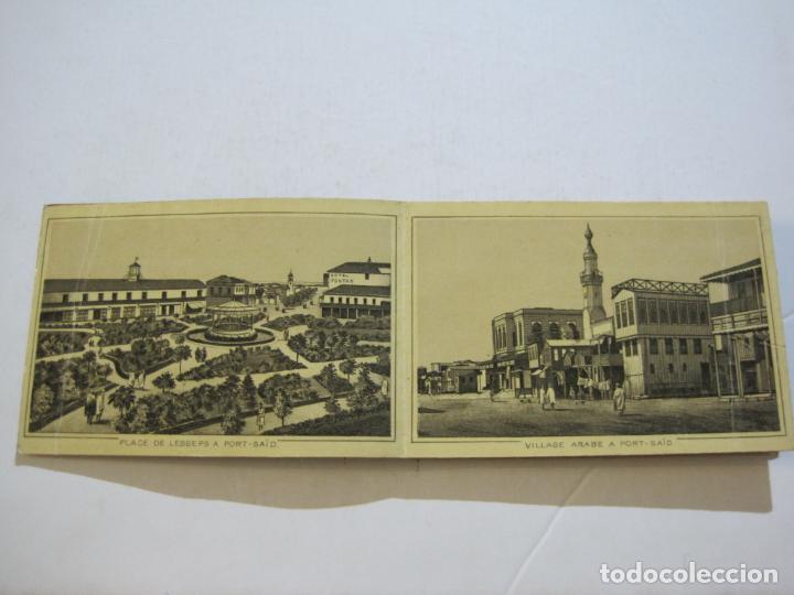 Postales: EGIPTO-ALBUM DE SUEZ-BLOC CON 12 DIBUJOS TAMAÑO POSTAL-VER FOTOS-(74.786) - Foto 5 - 221289007