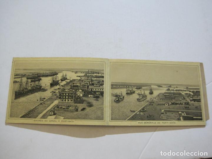 Postales: EGIPTO-ALBUM DE SUEZ-BLOC CON 12 DIBUJOS TAMAÑO POSTAL-VER FOTOS-(74.786) - Foto 6 - 221289007