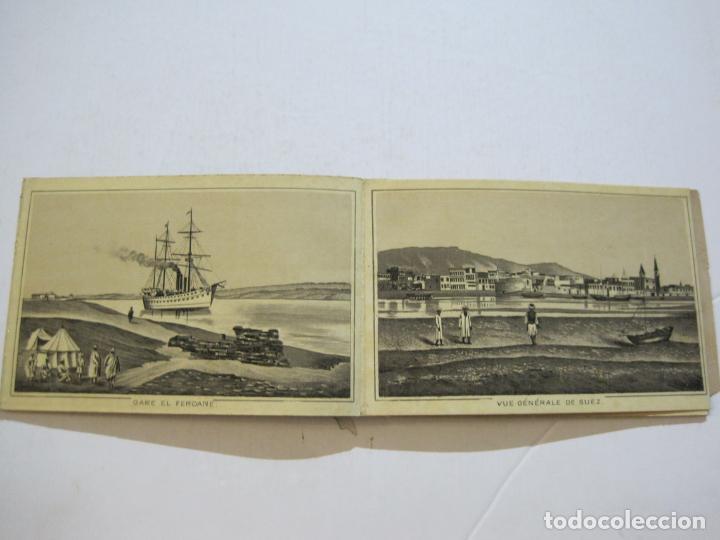 Postales: EGIPTO-ALBUM DE SUEZ-BLOC CON 12 DIBUJOS TAMAÑO POSTAL-VER FOTOS-(74.786) - Foto 7 - 221289007
