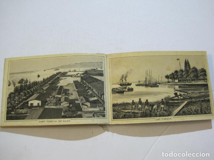 Postales: EGIPTO-ALBUM DE SUEZ-BLOC CON 12 DIBUJOS TAMAÑO POSTAL-VER FOTOS-(74.786) - Foto 8 - 221289007