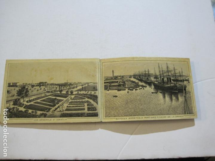 Postales: EGIPTO-ALBUM DE SUEZ-BLOC CON 12 DIBUJOS TAMAÑO POSTAL-VER FOTOS-(74.786) - Foto 9 - 221289007