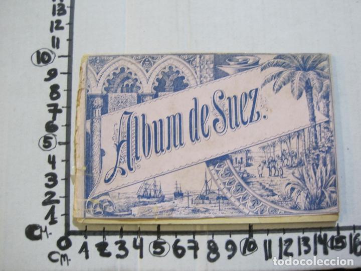 Postales: EGIPTO-ALBUM DE SUEZ-BLOC CON 12 DIBUJOS TAMAÑO POSTAL-VER FOTOS-(74.786) - Foto 14 - 221289007