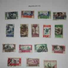 Postales: SELLOS DE MARRUECOS PROTECTORADO ESPAÑOL. Lote 226616280
