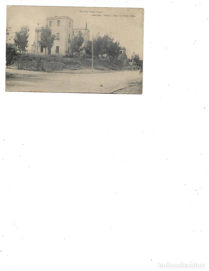 ANTIGUA POSTAL DE LARACHE PABELLONES DE ARTILLERIA -EDICION CASA GOYA (Postales - Postales Extranjero - África)