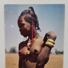 Postales: POSTAL AFRIQUE EN COULEURS. BELLE AFRICAINE. EDITIONS HOA-QUI MEXICHROME 3022. SIN CIRCULAR. Lote 240869210