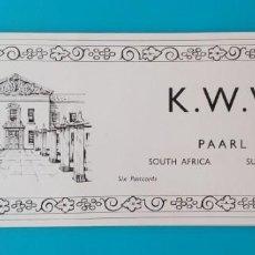 Postales: FOLLETO POSTALES KWV SUDÁFRICA, EMPRESA DE VINOS LICORES Y BEBIDAS, 1955, NUEVO. Lote 244440380