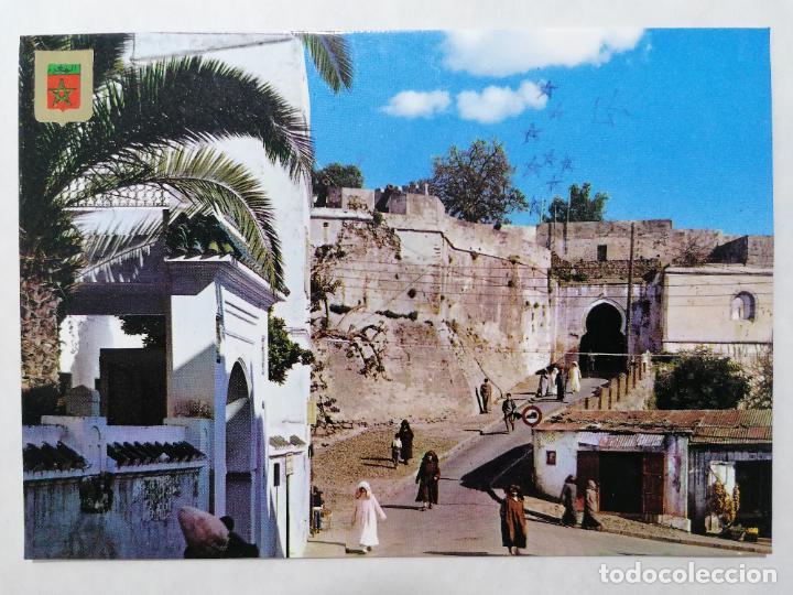 POSTAL TANGER, ENTRADA A LA ALCAZABA, ANTIGUO CASTILLO DE YORK, AÑOS 60 (Postales - Postales Extranjero - África)