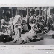 Postales: POSTAL TETUAN, ZOCO DE PAN, FOTO CALATAYUD, AÑO 1952. Lote 244542890