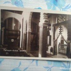 Postales: POSTAL FOTOGRAFIA TETUAN, CASA MORA 33. Lote 244677375