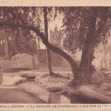 Postales: ARGELIA, VIEUX BISKRA, LA MEZQUITA DE SIDI-MALECK – LEVY ET NEURDEIN – CIRCULADA 1933. Lote 244747660