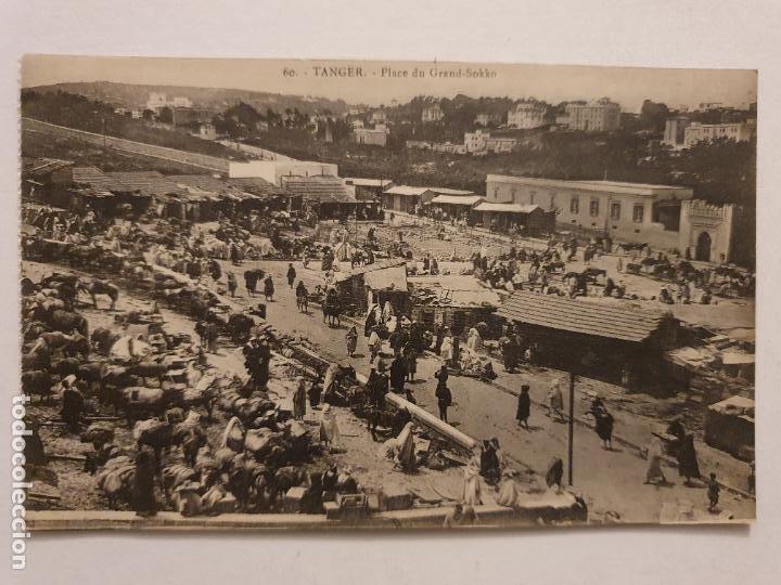 MARRUECOS - TÁNGER / TIN IGGI / TANGA - PLAZA DEL GRAN ZOCO - P47536 (Postales - Postales Extranjero - África)