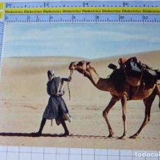Postales: POSTAL DE ÁFRICA SUBSAHARIANA. MAURITANIA. CAMELLERO CAMELLO. TIPISMO ESCENA ÉTNICA VIVA. 695. Lote 254287505