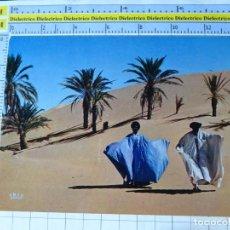 Postales: POSTAL DE ÁFRICA SUBSAHARIANA. MAURITANIA. DUNES DE SABLE. ESCENA VIVA TÍPICA ÉTNICA. 700. Lote 254287665