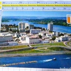 Postales: POSTAL DE ÁFRICA SUBSAHARIANA. COSTA DE MARFIL, ABIDJAN. VISTA AEREA. TRANSPORTE MADERA TRONCOS. 701. Lote 254287705