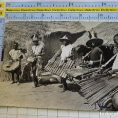Postales: POSTAL DE ÁFRICA SUBSAHARIANA. FOLKLORE ESCENA VIVA ÉTNICA. MUSICOS. 3374. Lote 255650475