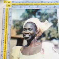 Postales: POSTAL DE ÁFRICA SUBSAHARIANA. FOLKLORE ESCENA VIVA ÉTNICA. ELEGANTE JOVEN MUJER. 3377. Lote 255650655