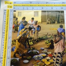 Postales: POSTAL DE ÁFRICA SUBSAHARIANA. FOLKLORE ESCENA VIVA ÉTNICA. MERCADO FRUTAS VERDURAS. 3381. Lote 255651615