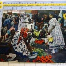 Postales: POSTAL DE ÁFRICA SUBSAHARIANA. FOLKLORE ESCENA VIVA ÉTNICA. MERCADO MUJERES. 3383. Lote 255651720