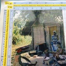 Postales: POSTAL DE ÁFRICA SUBSAHARIANA. FOLKLORE ESCENA VIVA ÉTNICA. FAMILIA. 3386. Lote 255651890