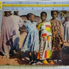 Postales: POSTAL DE ÁFRICA SUBSAHARIANA. FOLKLORE ESCENA VIVA ÉTNICA. NIÑOS NIÑAS. 3389. Lote 255652060