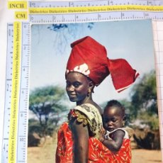 Postales: POSTAL DE ÁFRICA SUBSAHARIANA. ESCENA VIVA TIPISMO FOLKLORE ÉTNICA. MUJER MADRE BEBE. 819. Lote 261964610