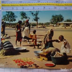 Postales: POSTAL DE ÁFRICA SUBSAHARIANA. ESCENA VIVA TIPISMO FOLKLORE ÉTNICA. ESCENA DE MERCADO MUJERES. 832. Lote 261965475