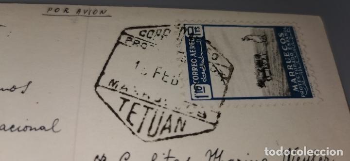 Postales: Postal Plaza España TETUAN años 50 circulada con sello protectorado Marruecos - Foto 4 - 262842890