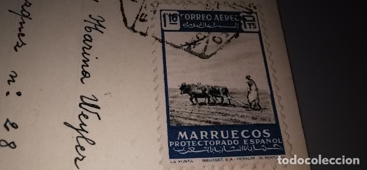 Postales: Postal Plaza España TETUAN años 50 circulada con sello protectorado Marruecos - Foto 5 - 262842890