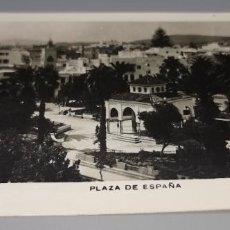 Postales: POSTAL PLAZA ESPAÑA TETUAN AÑOS 50 CIRCULADA CON SELLO PROTECTORADO MARRUECOS. Lote 262842890