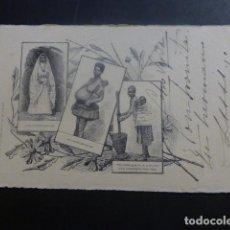 Postais: SAN VICENTE CABO VERDE TIPOS POSTAL LITOGRAFICA HACIA 1901 ESCRITA A BORDO DE LA FRAGATA NAUTILUS. Lote 263626690