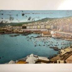 Postales: POSTAL ANTIGUA. ARGEL, PUERTO DE LA CIUDAD. ARGELIA. CIRCULADA 1930. CON SELLO.. Lote 270641403