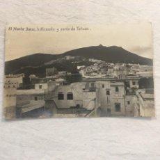 Postales: FOTO POSTAL. EL MONTE DERSA, LA ALCAZABA Y PARTE DE TETUÁN. AÑOS 20.. Lote 24753020