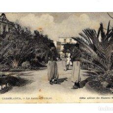 Postales: ANTIGUA POSTAL MARRUECOS - CASABLANCA - LE JARDIN PUBLIC - SIN CIRCULAR - AÑOS 1910 - 1920 - TIPOS. Lote 273280448