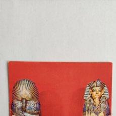 Postales: POSTAL ARTE EGIPCIO. MUSEO DE EL CAIRO SARCÓFAGO DE TUTANKAMON. Lote 277026813