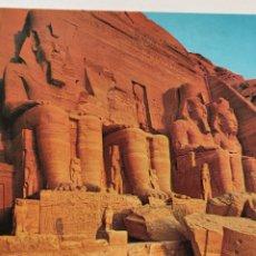 Postales: POSTAL ARTE EGIPCIO. TEMPLO DE RAMSÉS II. ABU SIMBEL. EGIPTO.. Lote 277027058