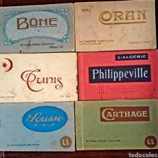 Postales: 6 TACOS DE POSTALES ANTIGUAS NORTE DE ÁFRICA ALGERIE TÚNEZ CARTAGO CARTHAGE SOUSSE BONE ORAN ARGELIA. Lote 180202186