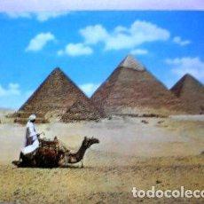 Postales: POSTAL LAS TRES PIRAMIDES EGIPTO. Lote 277350743