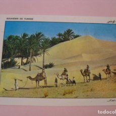 Postales: POSTAL DE TUNEZ. CARAVANA EN SAHARA. CIRCULADA 1988.. Lote 279473188