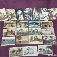 Cartoline: 22 ANTIGUAS POSTALES DE ÁFRICA, 17 MARRUECOS Y 3 TÚNEZ, ÉTNICAS, COSTUMBRISTAS, B/N Y COLOREADAS. Lote 287684843