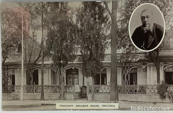SOUTH AFRICA, PRETORIA PRESIDENT KRUGER'S HOUSE. REAL PHOTO. CIRCULADA SIN SELLO. (Postales - Postales Extranjero - África)
