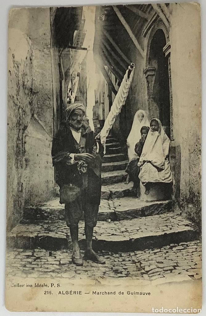 ARGELIA, ALGERIE MARCHAND DE GUIMAUVE. COLLECTION IDEALE. ESCRITA. (Postales - Postales Extranjero - África)