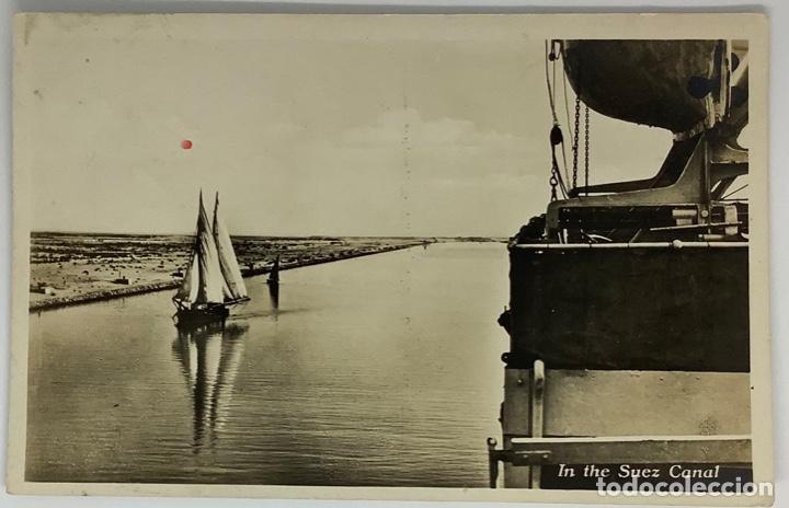 EGIPTO, EGYPT SUEZ, IN THE SUEZ CANAL. GEO STILKE PUBLISHERS. (Postales - Postales Extranjero - África)