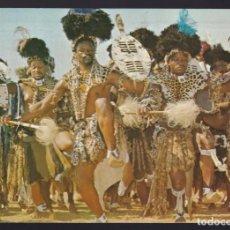 Postales: SUDÁFRICA. NATAL. *ZULU DANCING* CIRCULADA 1981.. Lote 288681343