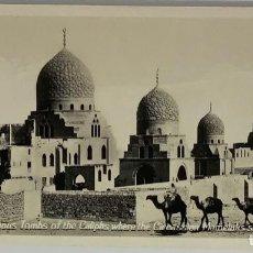 Postales: EGIPTO, EGYPT CAIRO THE FAMOUS TOMBS OF CALIPHS. ORIENTAL BUREAU. FOTO REAL. Lote 288729763