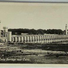 Postales: EGIPTO, EGYPT CAIRO DELTA BARRAGE NEAR CAIRO.ORIENTAL BUREAU. FOTO REAL. Lote 288729948