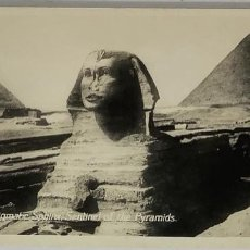 Postales: EGIPTO, EGYPT CAIRO THE ENIGMATE SPHINX SENTINEL OF PYRAMIDS. ORIENTAL BUREAU. FOTO REAL. Lote 288730613