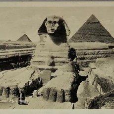 Postales: EGIPTO, EGYPT CAIRO SPHINX AND PYRAMIDS. ORIENTAL BUREAU. FOTO REAL. Lote 288730683
